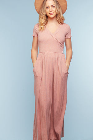 2 Tone Pocketed Maxi Dress