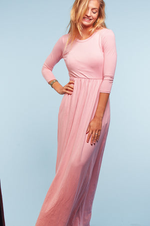 Blush Solid Maxi Dress