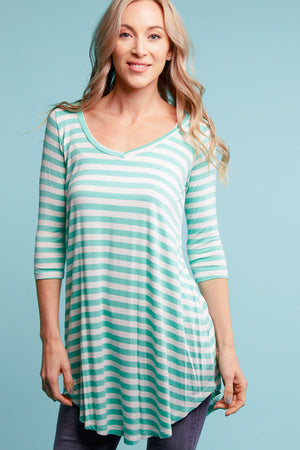 Mint Stripe Tunic
