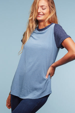 Blue Stripe Raglan