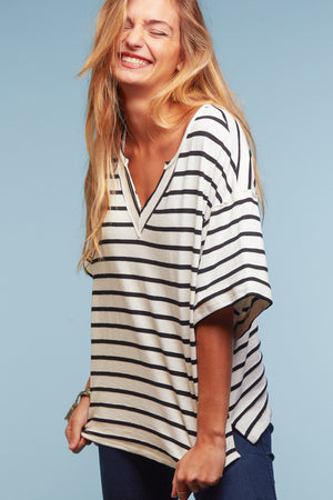 Ivory Stripe Blouse
