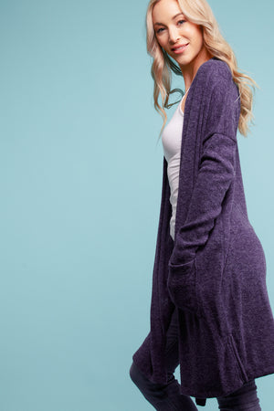 Navy Thick Pocketed Cardigan