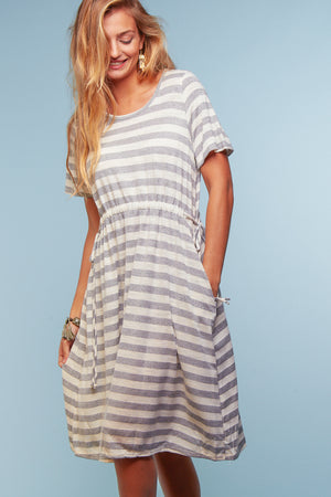 Heather Grey Stripe Dress