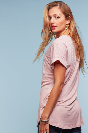 Pink Pocket Blouse