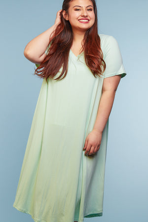 Plus Mint Midi Dress