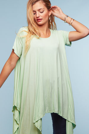 Lime Draping Blouse