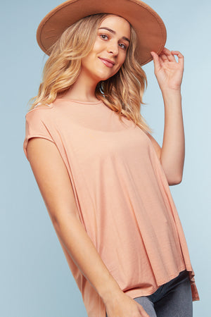 Mauve Cold Shoulder Blouse
