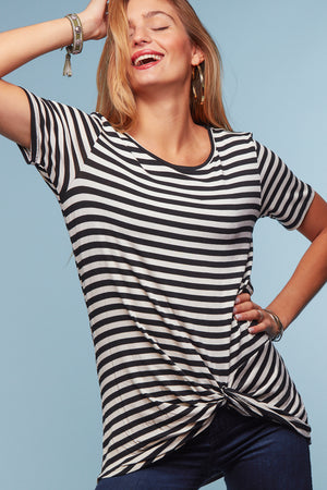 Black Stripe Blouse