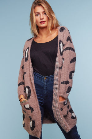 Mocha Animal Thick Cardigan