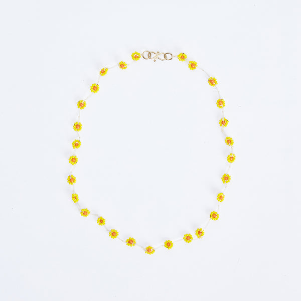 Daisy Yellow Necklace
