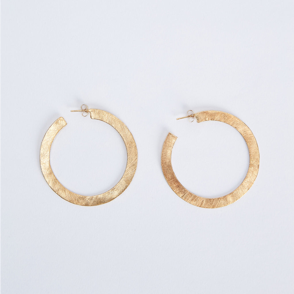Flat Hoops Earrings