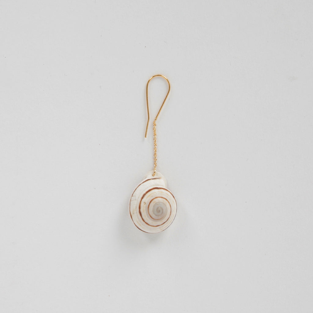 Single Round Shell Earring