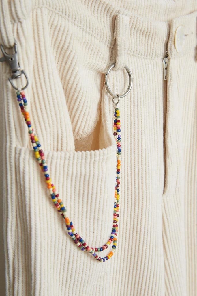 Multicolor Beads Keyring