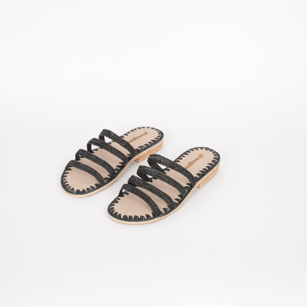 Nuit Rafia Sandals