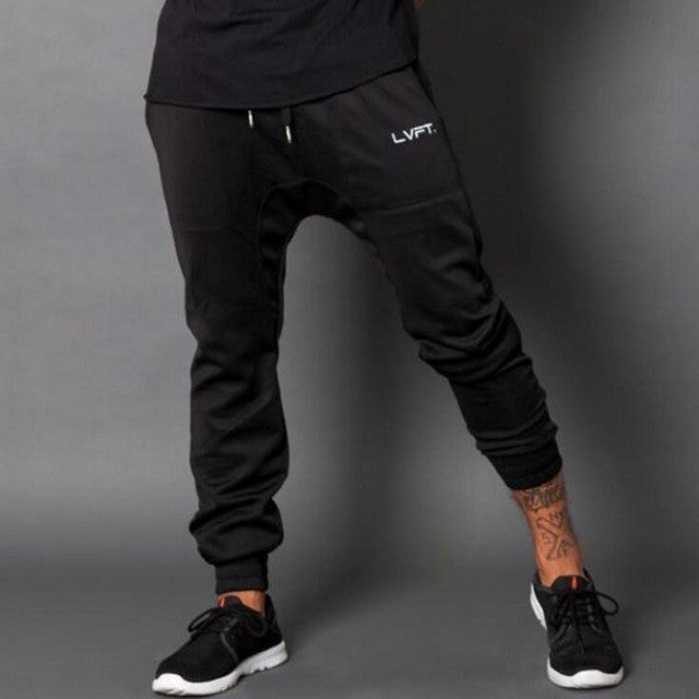Black LVFT Joggers - Absolutely Aesthetic Apparel