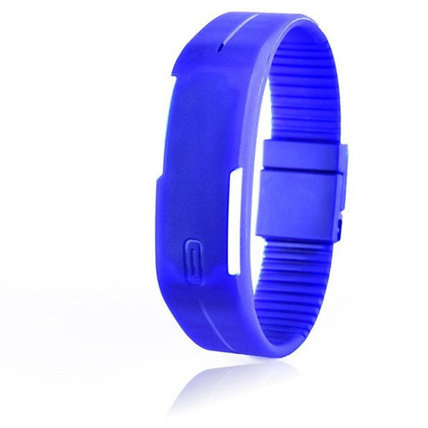 Digital LED Fitness Watch - Blue