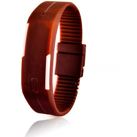 Digital LED Fitness Watch Brown Color