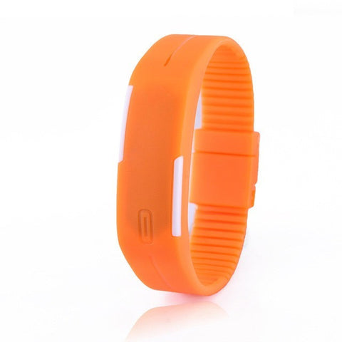 Digital LED Fitness Watch - Orange