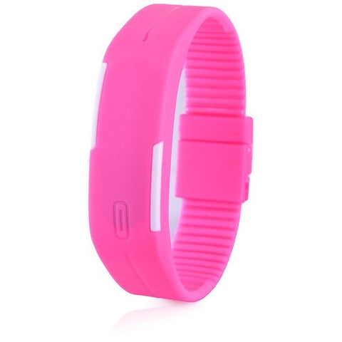 Digital LED Fitness Watch - Pink