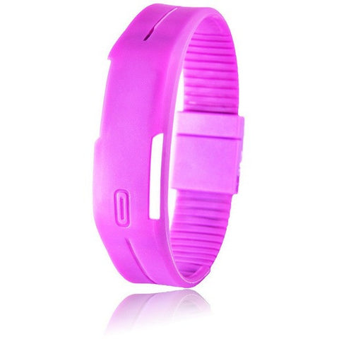 Digital LED Fitness Watch - Purple