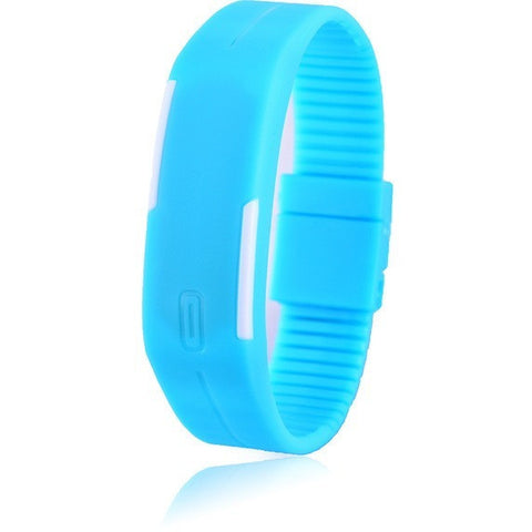 Digital LED Fitness Watch - Light Blue