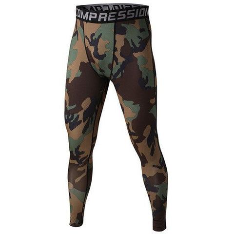 Army Camo Mens Compression Pants - Absolutely Aesthetic Apparel