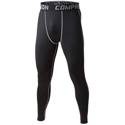 Black Grey Mens Compression Pants - Absolutely Aesthetic Apparel