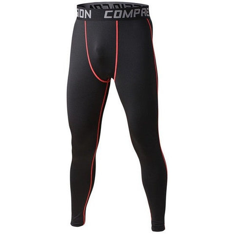 Red Black Mens Compression Pants - Absolutely Aesthetic Apparel