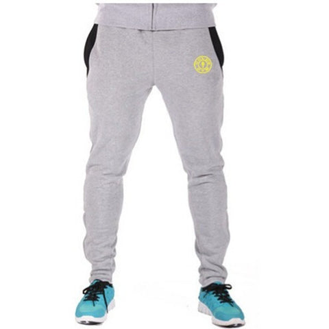 Grey Golds Gym Joggers - Absolutely Aesthetic Apparel