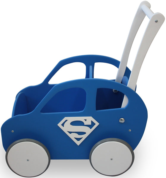 Wooden Car - Cobalt Blue - Pretty Yum Co
