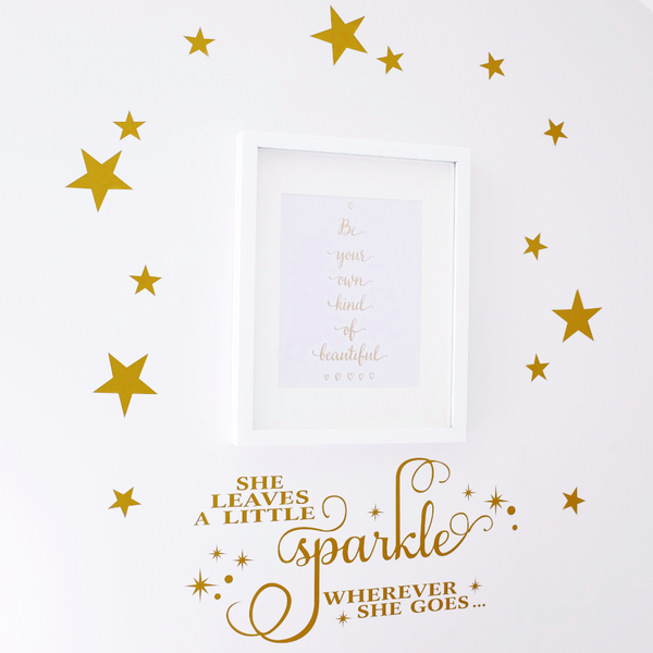 She leaves a little sparkle whereever she goes wall decal