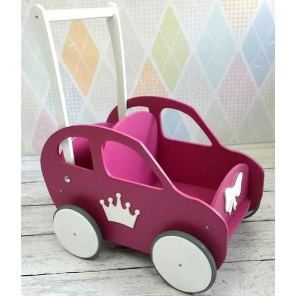 Wooden Car - Dark Pink - Pretty Yum Co