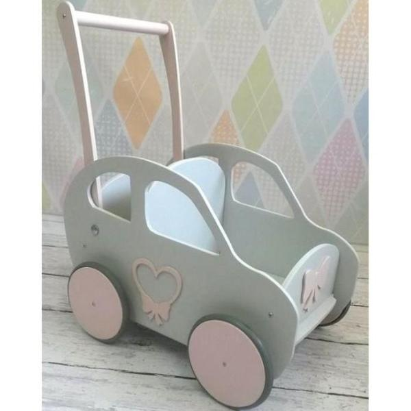Wooden Car - Light Grey - Pretty Yum Co