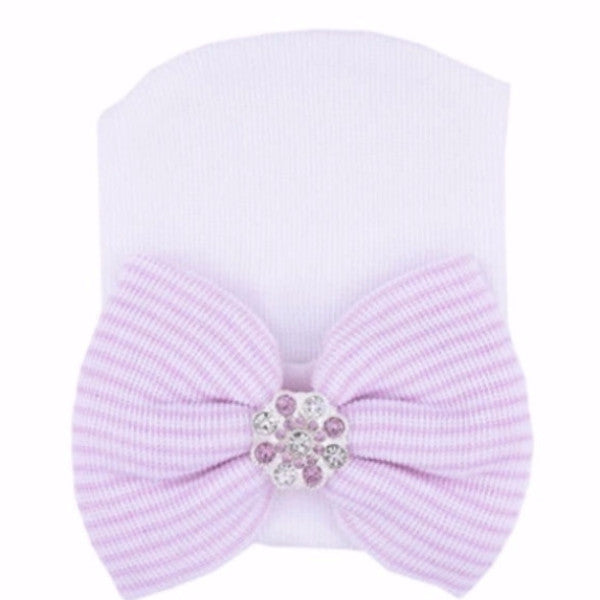 "The ""Belle"" Baby Bow Beanie - Pretty Yum Co"