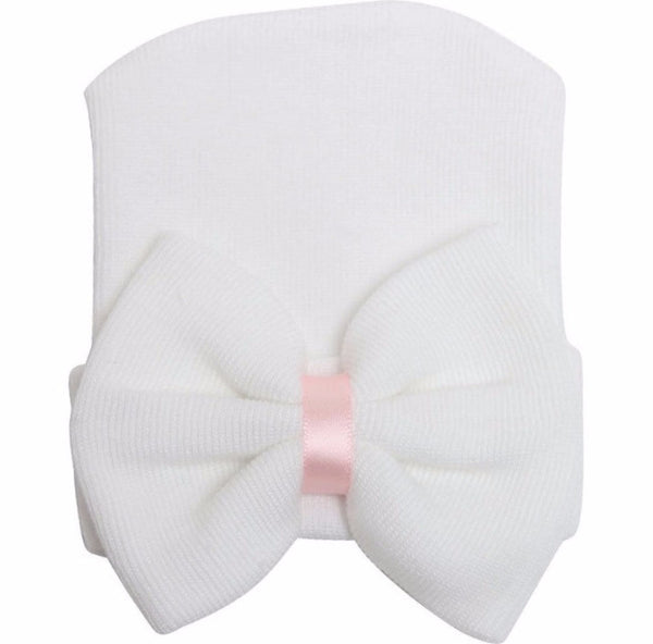 "The ""Elsa"" Bow Beanie - Pretty Yum Co"