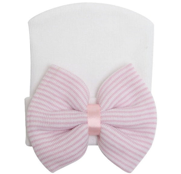 "The ""Jasmine"" Bow Beanie - Pretty Yum Co"
