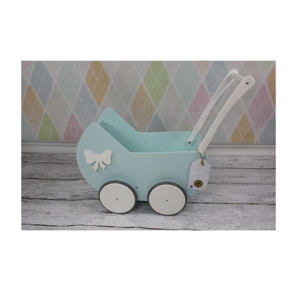 Wooden Pram - Mint - Pretty Yum Co