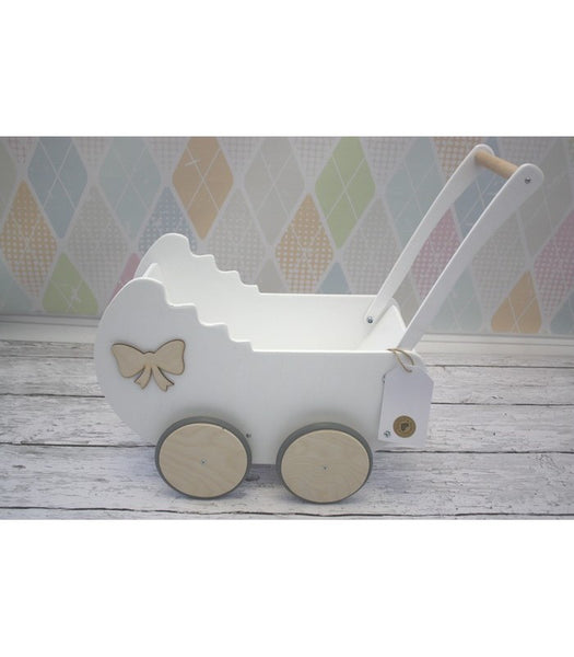 Wooden Pram - White - Pretty Yum Co