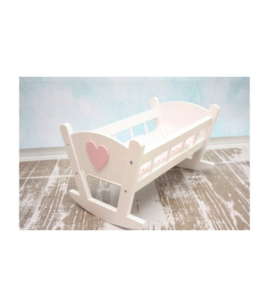 Luxury Wooden Dolls Cot - Pretty Yum Co