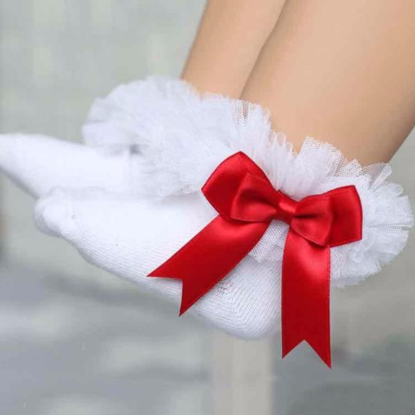 Red Bow Tie Socks - Pretty Yum Co