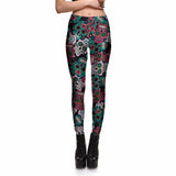Big Eye Sugar Skull Leggings - The Leggings Shop
