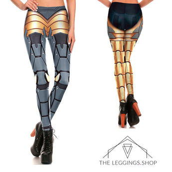Bionic Armor Superhero Leggings - The Leggings Shop
