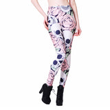 Blooming Skull Leggings - The Leggings Shop