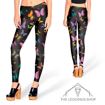 Butterflies in the Dark Leggings - The Leggings Shop