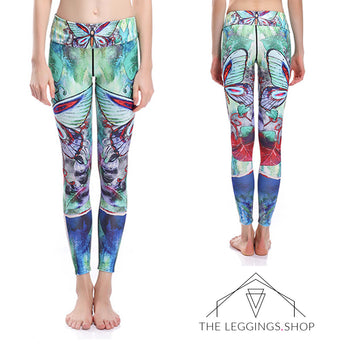 Butterflies in the Garden Leggings - The Leggings Shop