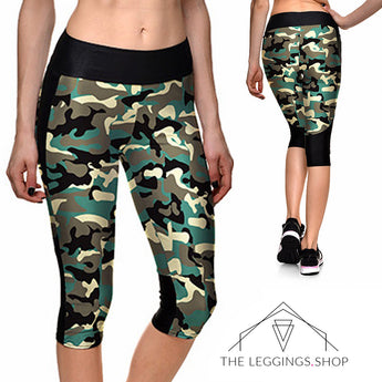 Camo Athletic Capri Leggings - The Leggings Shop