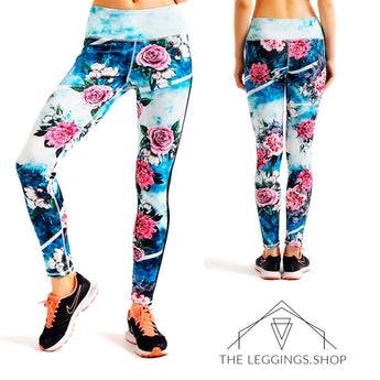 Celestial Roses Leggings - The Leggings Shop
