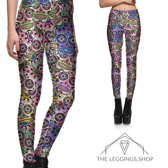 Crazy Sugar Skull Leggings - The Leggings Shop