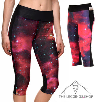 Fire Galaxy Athletic Capri Leggings - The Leggings Shop