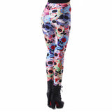 Floral Sugar Skull Leggings - The Leggings Shop